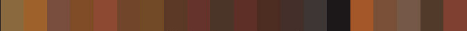 RAL Brown shades