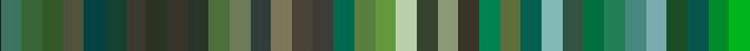 RAL Green shades