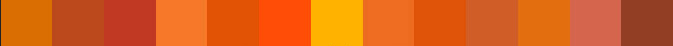 RAL Orange shades